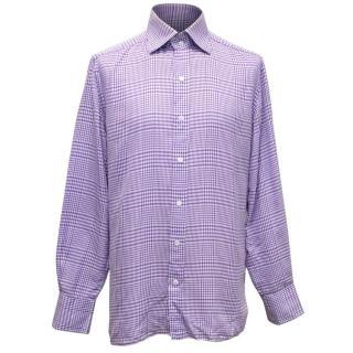 Tom Ford Purple Checkered Shirt