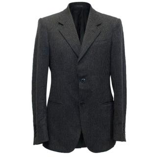 Emporio Armani Linea Napoli Grey Pinstripe Blazer