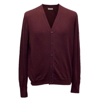 Bottega Veneta Men's Plum Coloured Cardigan