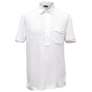 Tom Ford White Terry Cloth Polo