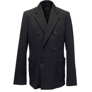 Emporio Armani Johnny Line Black Ribbed Blazer