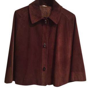Miu Miu Brown leather cape