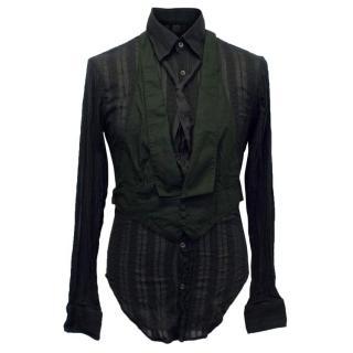 Alexander McQueen Mens Black Shirt with Vest