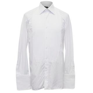 Tom Ford Men's White Tuxedo Shirt