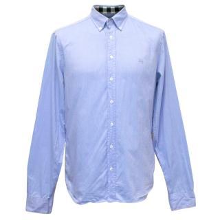 Burberry Brit Mens Blue Button Up Shirt