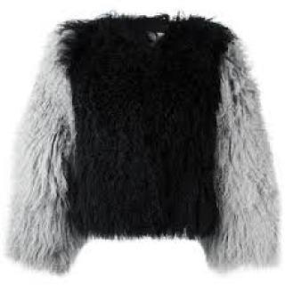 Charlotte Simone Classic Mongolian Fuzz Fluffy Jacket