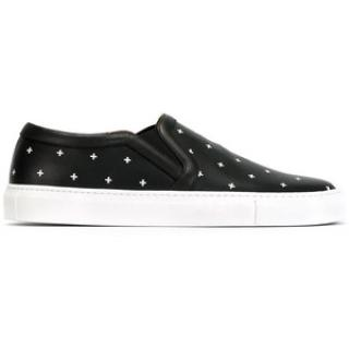 Givenchy men's cross print leather Slip on trainers