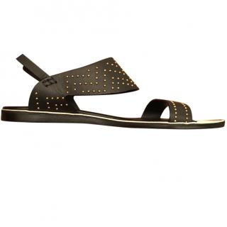 Nicholas Kirkwood Studded Flat Leather Sandals
