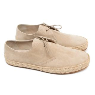 Burberry Beige Suede Loafers