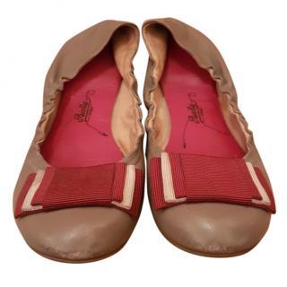 Bally Beige Ballet Flat