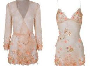 Agent Provocateur 'Yinka' slip and gown