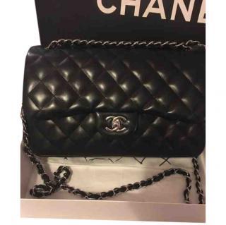 Chanel Jumbo Black Leather Bag