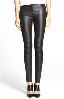 Alice and Olivia Black Leather Trousers
