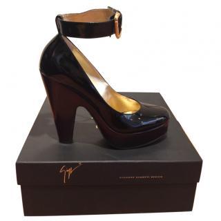 Giuseppe Zanotti patent Mary-Jane shoes
