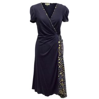 Issa Navy Wrap Dress