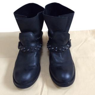 Ash studded biker boots