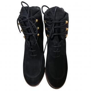 Louis Vuitton Black Wedge Boots