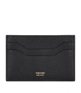 Tom Ford Leather Black Card Holder