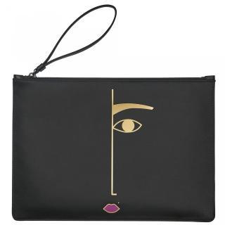 Lulu Guinness Rachel Dora Face clutch bag