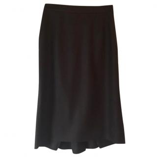 Elie Tahiri 100% wool brown pencil skirt with pleated back