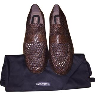Dolce & Gabbana Brown Calfskin Loafers