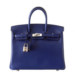Hermes Birkin 25 cm blue sapphire