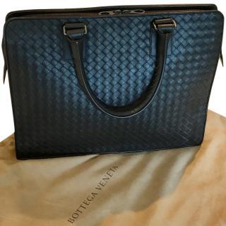 Bottega Veneta Briefcase in Ebano Intrecciato