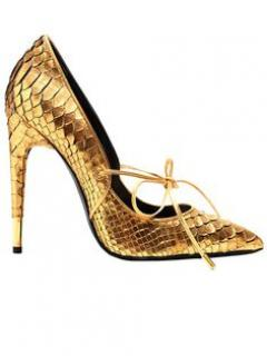 Tom Ford Gold Python Shoes