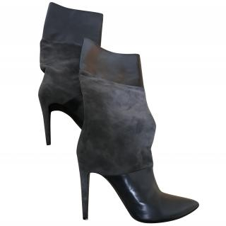 Pierre Hardy grey suede & leather boots