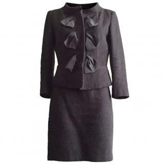 Fendi black boucle skirt suit