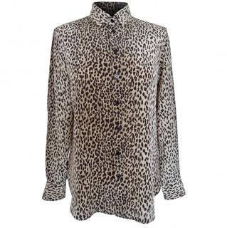 Saint Laurent Animal Leopard Print Shirt Blouse