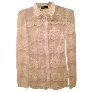 Dolce and Gabanna lace shirt