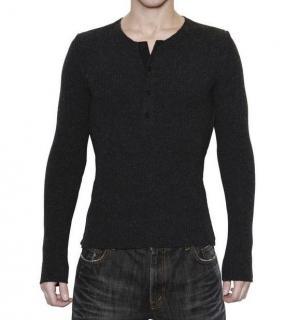 Dolce & Gabbana Black Serafino Sweater