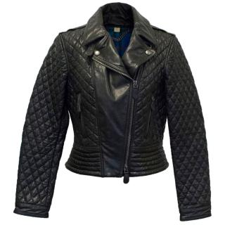 Burberry Brit Black Leather Quilted Jacket