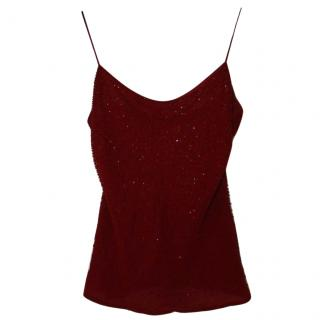 Ralph Lauren Red Silk Camisole Top