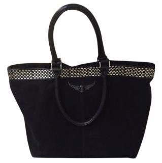 Zadig & Voltaire Black Suede Tote Bag