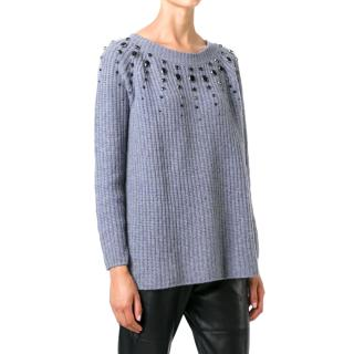 Twin-Set Grey Wool Jumper