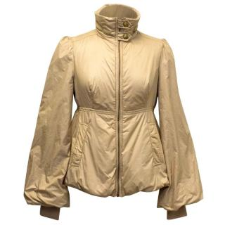 Moschino Jeans Gold Puffer Jacket