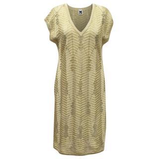 M by Missoni Gold Metallic Knit Dress