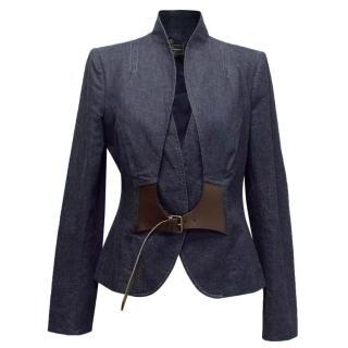 Salvatore Ferragamo Blue Denim Jacket