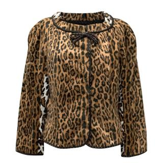 Moschino Cheap And Chick Leopard Print Jacket