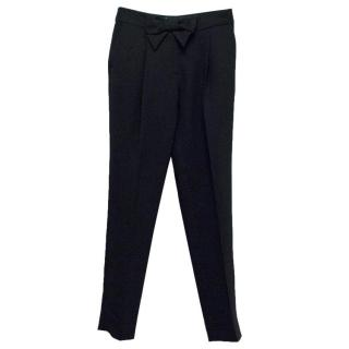 Claudie Pierlot Black Trousers with Bow Detail
