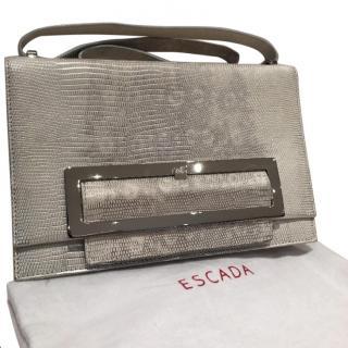 Escada Metallic Lizard Embossed Bag