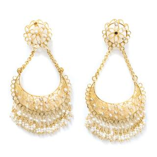 Isharya 18K Gold Plated Large Earrings