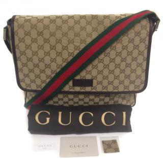 Gucci GG Fabric Messenger Bag