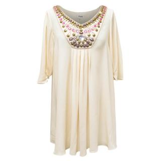 Temperley Cream Embelished Tunic