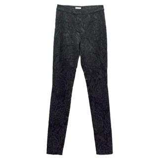Temperley Black Textured Cigarette Trousers