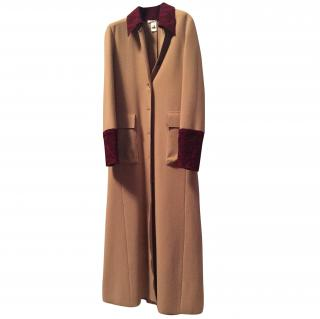 Pollini Long Wool Coat