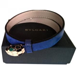 Bvlgari Blue Leather Serpentine Bracelet