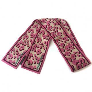 Louis Vuitton Pink Leopard Bandeau Scarf
